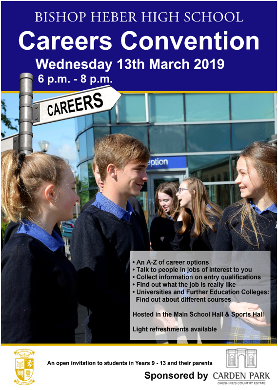 Careers Convention on Wednesday 13th March 2019